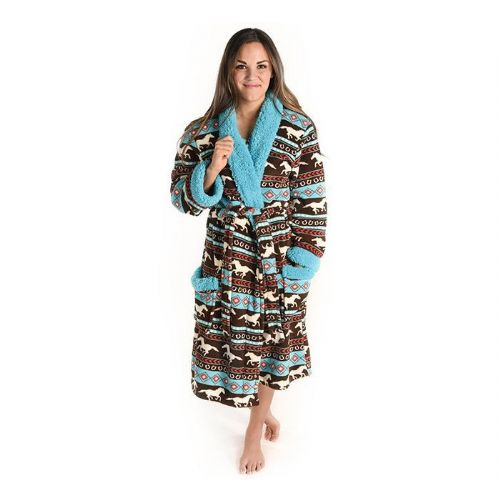 Women's Horse Fair Isle Adult Bathrobe - Lazy One®